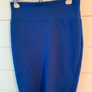 Lularoe Cassie skirt in royal blue